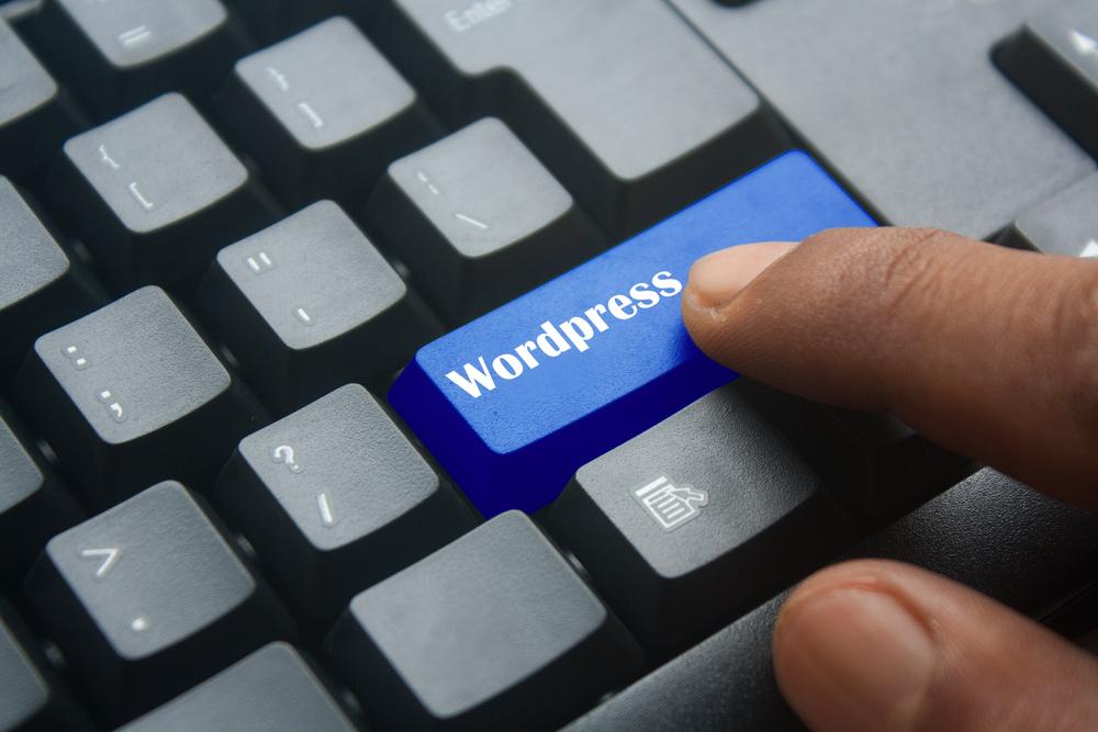 ワードプレスと書かれたキーボード