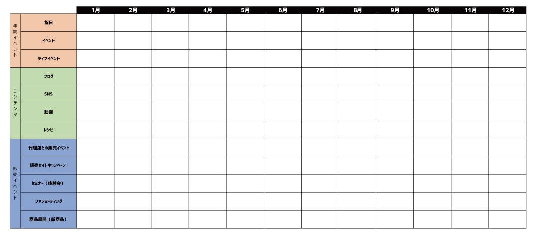 エディトリアルカレンダーの例